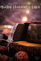 Mocha Chocolate Cake (Egg free and Butter free)