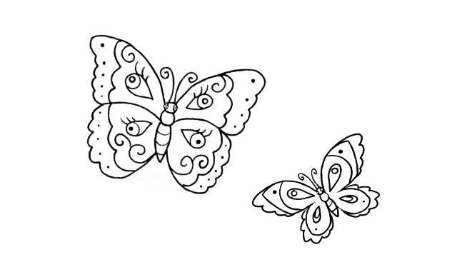 Dibujos Faciles de Mariposas Bonitas