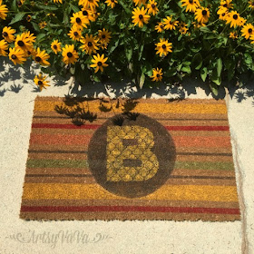 Artsy vava diiy custom door mat - Front door mats as a guest greeting tool ...