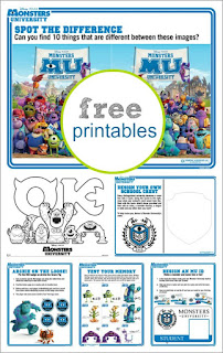 free monster inc activities
