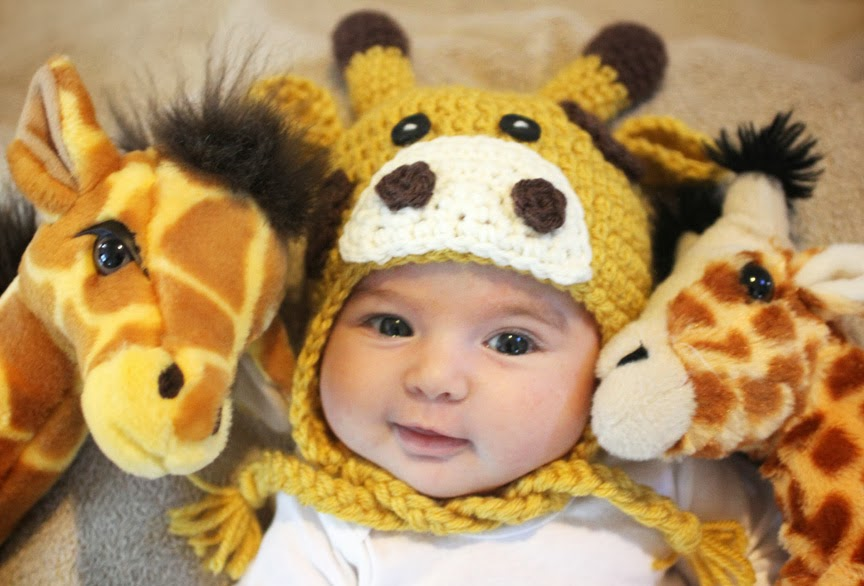 Crochet Giraffe Hat Pattern - Repeat Crafter Me
