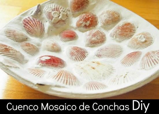 shell mosaic, conchas mosaico, manualidades, diys, técnicas