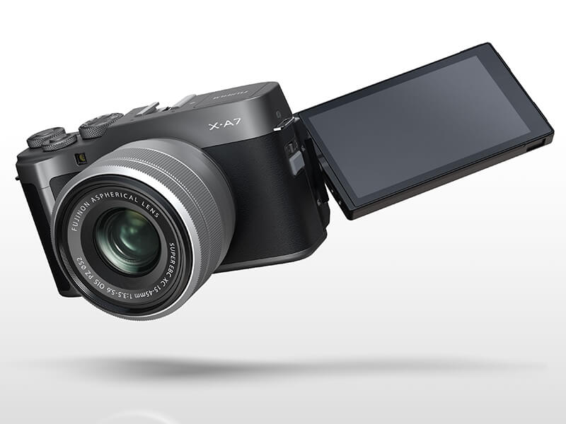 Fujifilm X-A7's articulating 3.5-inch touch display