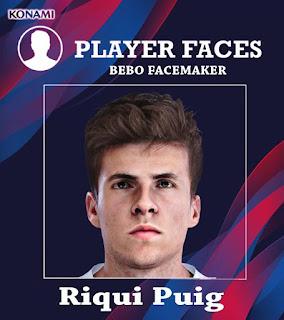 PES 2020 Faces Riqui Puig by Bebo