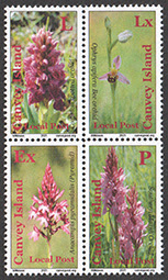 Endangered Orchids stamps Canvey Local Post