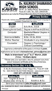 Dr. Kalmadi Shamarao High School Teacher Jobs