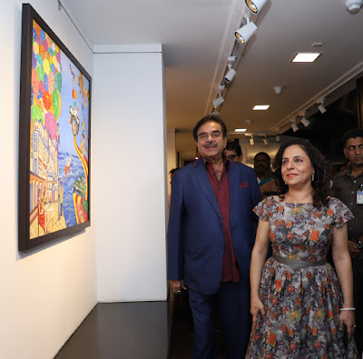 Veteran-Actor-and-Politician-Shatrughan-Sinha-inaugurate-Sangeeta-Babani-art-Exhibition-Many-Paths-One-Destination