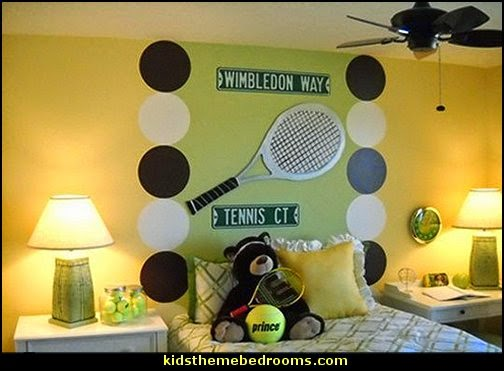 Tennis Theme Bedroom Decorating Ideas S Sports Themed