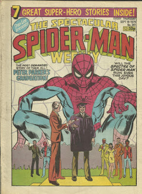 Spectacular Spider-Man Weekly #341, Peter Parker graduates