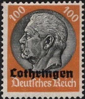 Germany 1933-41 100pf Pres. Von Hindenburg Lothringen