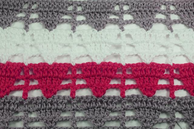 3 - Crochet Imagen Puntada de triangulo calada a crochet y ganchillo por Majovel Crochet