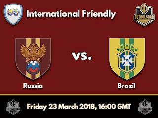 مشاهدة مباراة البرازيل وروسيا بث مباشر اليوم الجمعة 23-3-2018 مباراة ودية كأس العالم روسيا 2018 قناة بي إن  سبورت
