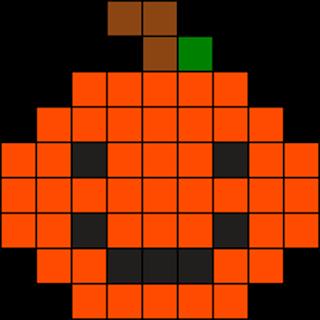 Pumpkin Perler Pattern