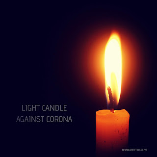 light candle against corona images