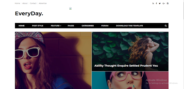 Every day Blogger Template