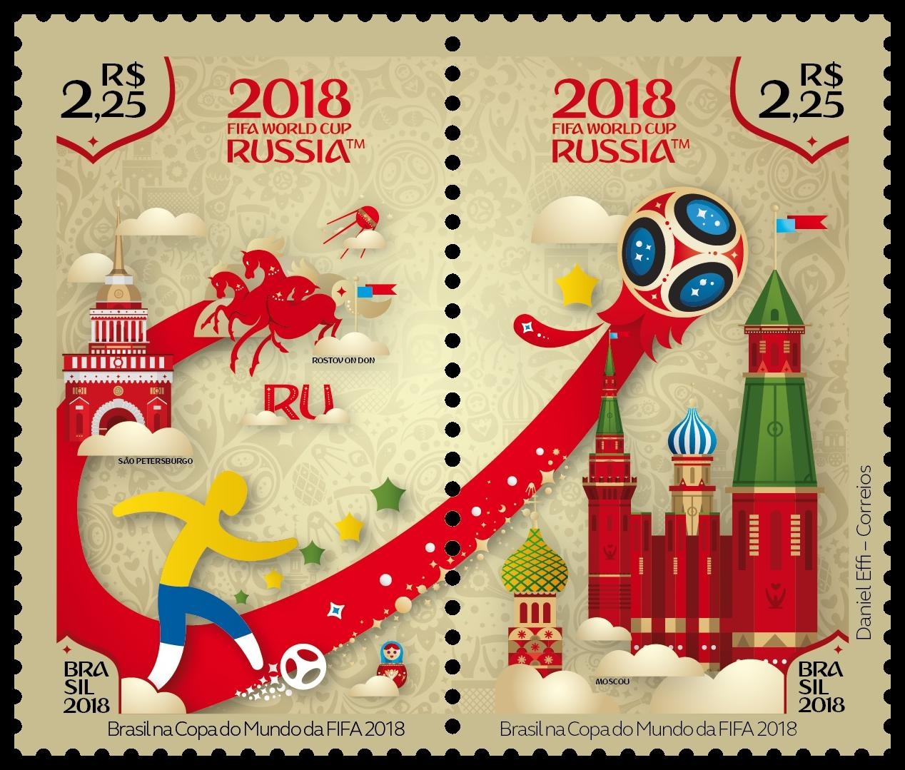 Postage stamps for the World Cup 2018 86