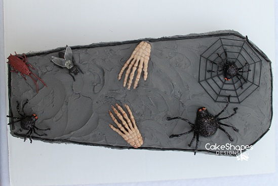 Shaping celebrations easy coffin cake for your halloween for Coffin cake template