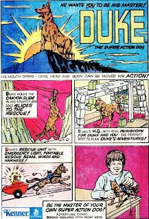 Comic ad for Duke the Super Action Dog