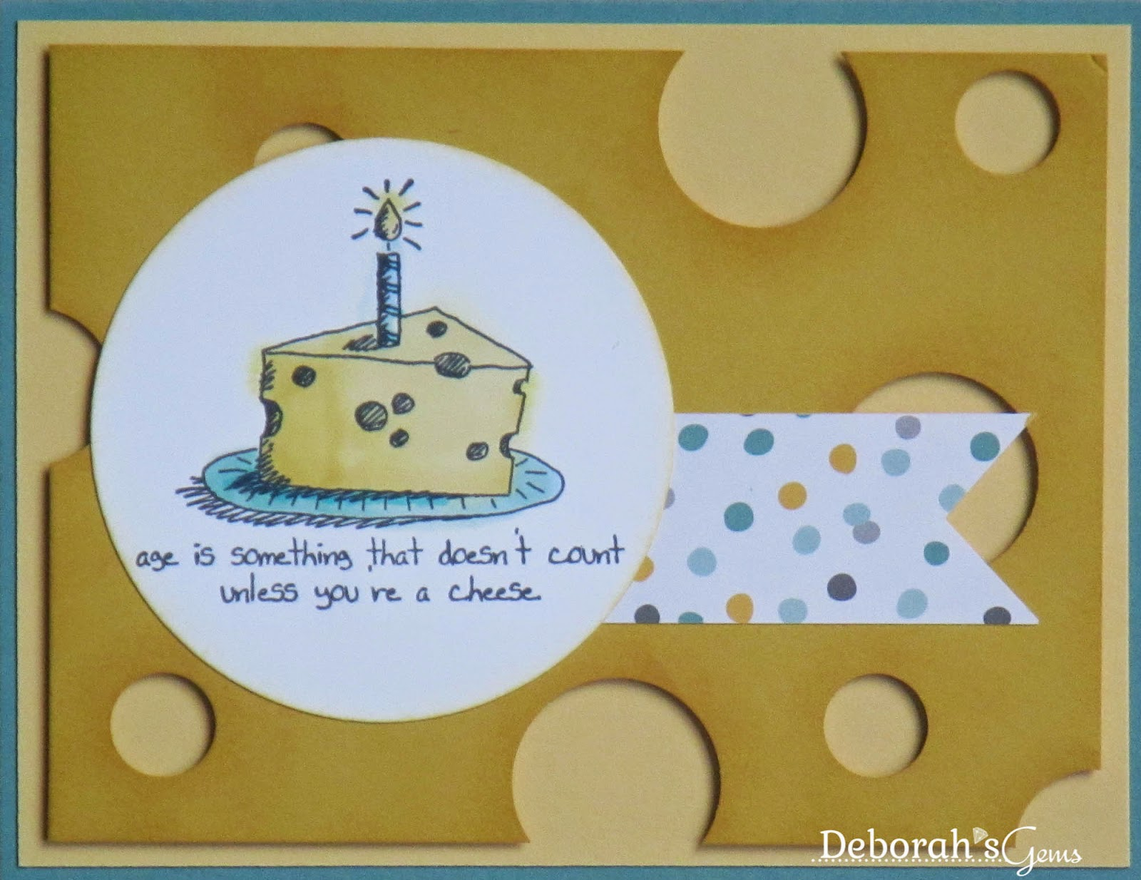 Cheese Card - photo by Deborah Frings - Deborah's Gems