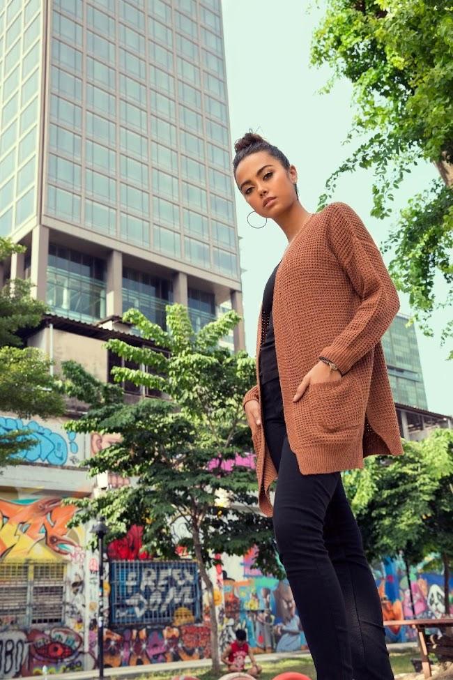 ideas women's winter dark honey colour sweaters with pocket