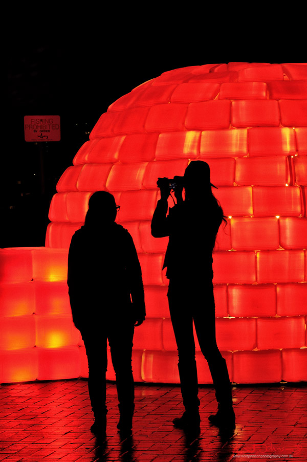 Vivid Sydney Light Sculpture 2012, The Bibigloo by BIBI