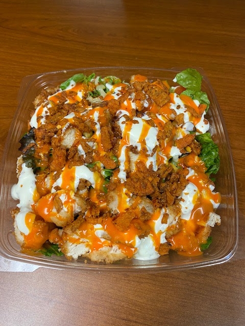 Chick-fil-a Cobb Salad with ranch and buffalo sauce