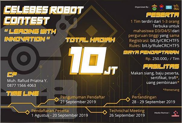 CELEBES ROBOT CONTEST oleh Universitas Hasanuddin