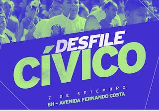 Cajati terá tradicional desfile cívico em 7 de setembro