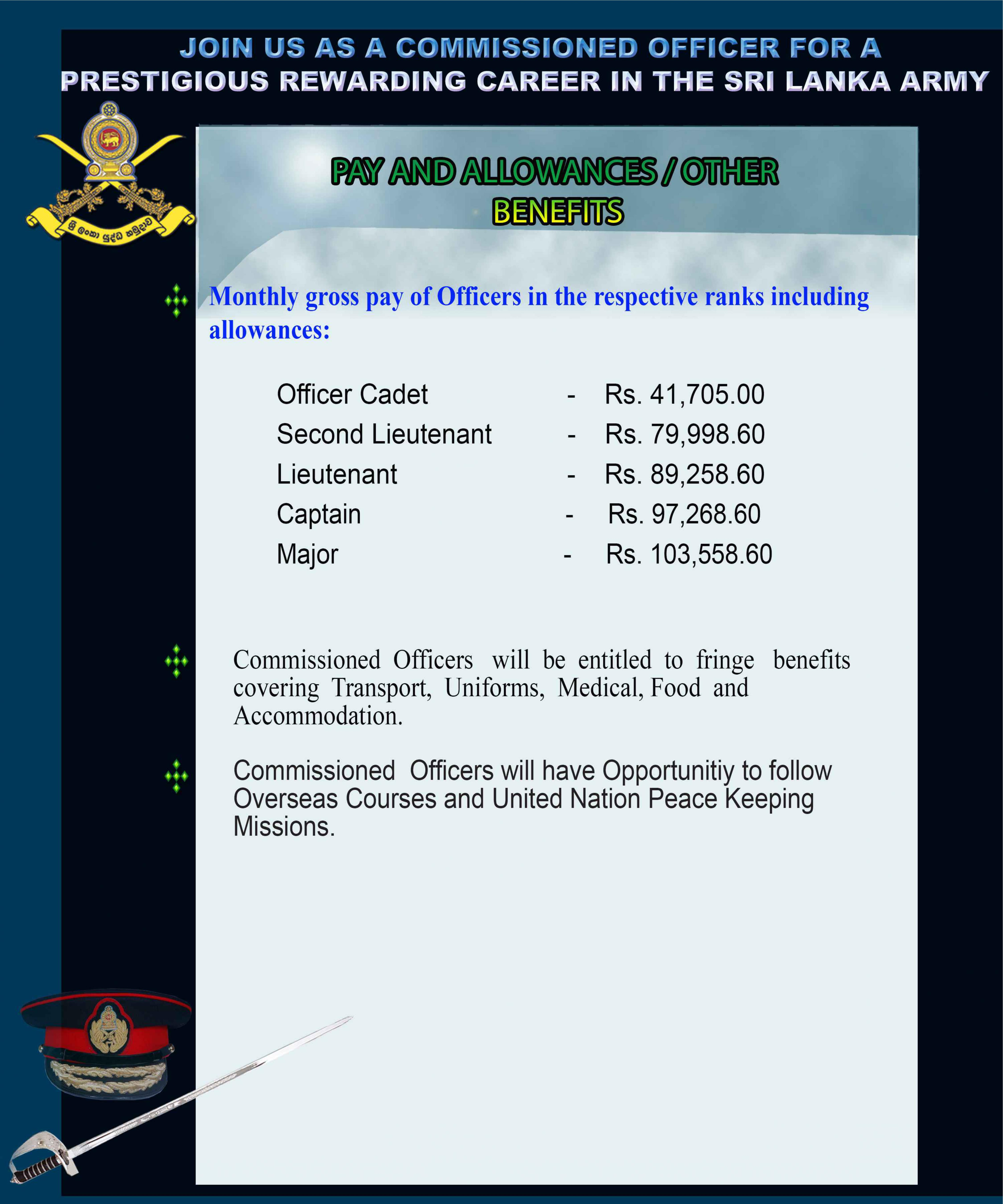 Join with Sri Lanka Army | Officer Vacancies Sri Lanka Army | Military Vacancies