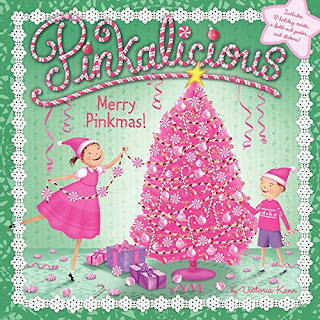 Pinkalicious as inspiration for pink pinecone ornament Christmas craft for kids