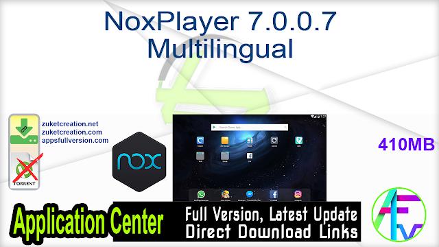 NoxPlayer 7.0.0.7 Multilingual