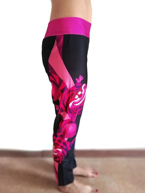 Спортивная одежда из магазина rosegal.com   ШОК: ожидание и реальность. Лосины с высокой посадкой High Waist Sheer Mesh Panel Workout Leggings, Chic Cartoon Printed Color Block Elastic Bodycon Yoga Pants For Women