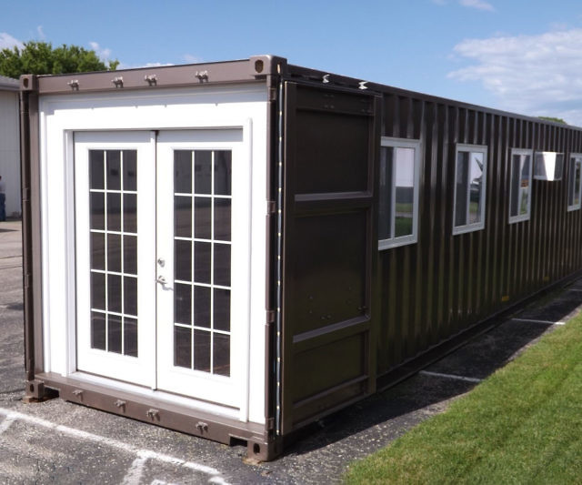 You can now buy a home on Amazon! These extremely affordable pre-fabricated shipping container homes offer all the comforts of a stationary home like running water, a fully functional bathroom, bedroom, kitchenette, and a cozy living room.