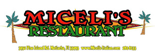 Miceli's restaurant is the only Italian cuisine themed business in Matlacha, Florida with the others focusing heavily on seafood.