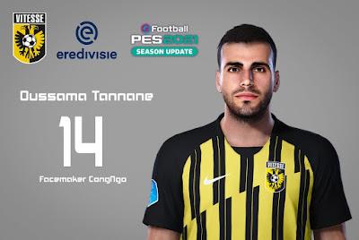 PES 2021 Faces Oussama Tannane by CongNgo