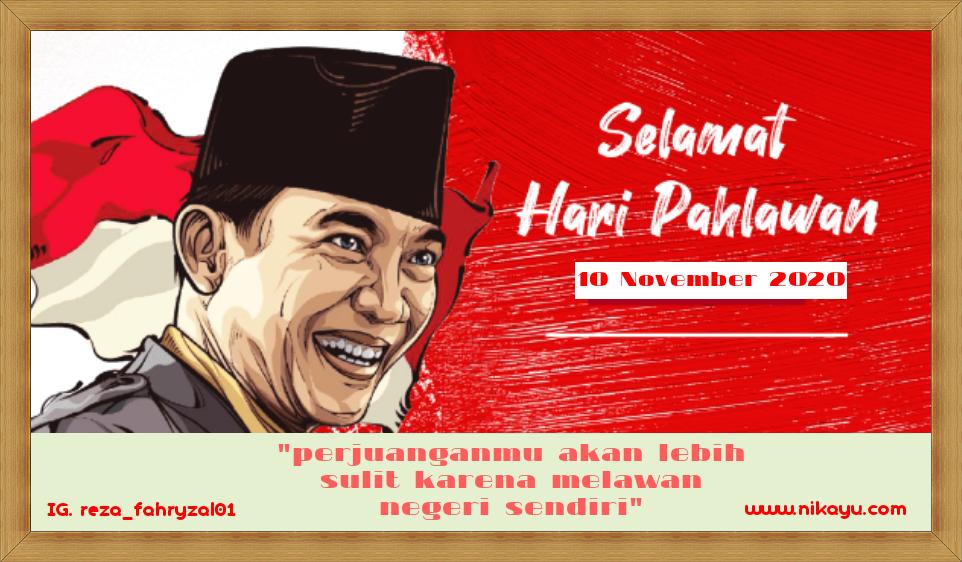 Baru: Twibbon Poster Ucapan Hari Pahlawan 10 November 2020 | Desain
