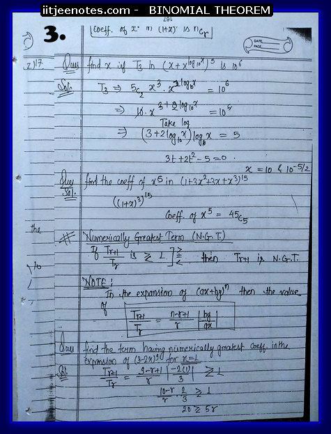 IITJEE Notes on Bimomial Theorem3