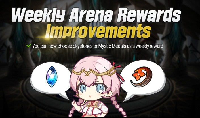 Weekly Arena Rewards Improvements Epic Seven