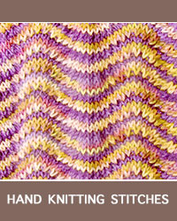 Learn Stockinette Chevron Lace Knitting with our easy to follow instructions at HandKnittingStitches.com