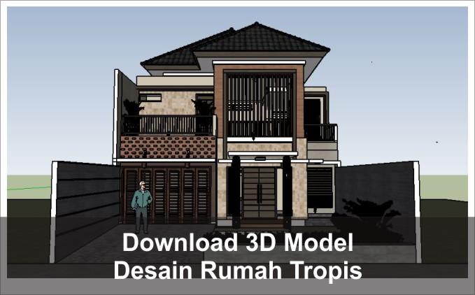 download desain rumah tropis 2 lantai