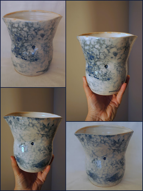 Bubble glazed pottery by Lily L.