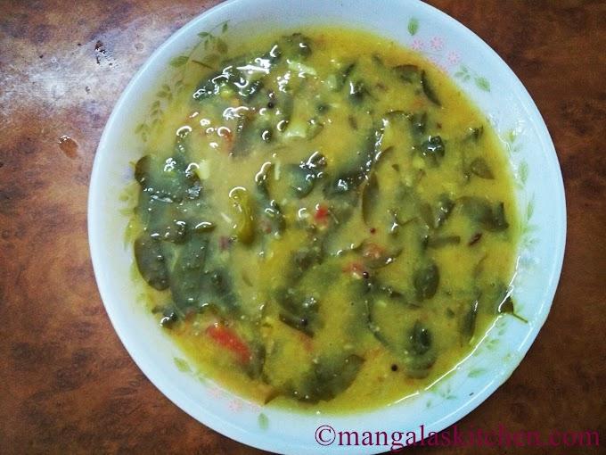 Drumstick leaves Kadaiyal | Murungai Keerai Paruppu Kadaiyal | South Indian Lunch gravy