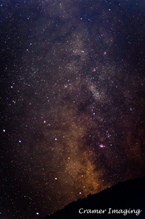 Cramer Imaging's professional quality astrophotography photograph featuring the Milky Way at night in Cherry Springs, Caribou National Forest near Pocatello, Bannock, Idaho