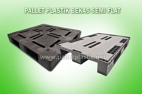 pallet plastik bekas flat