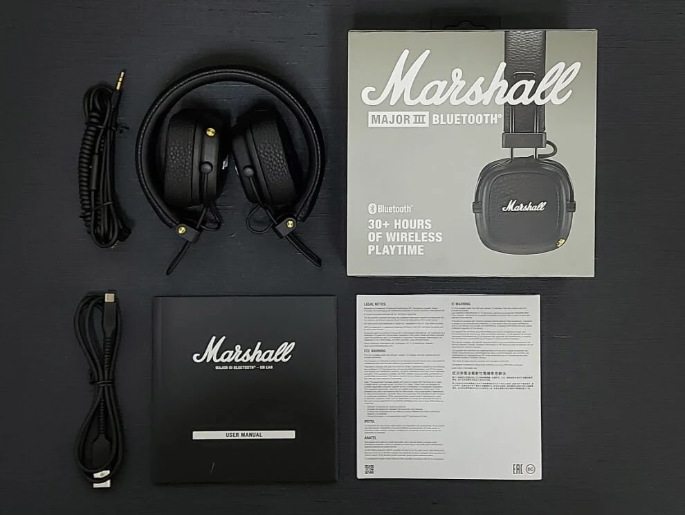 Marshall Major III Bluetooth Retail Package
