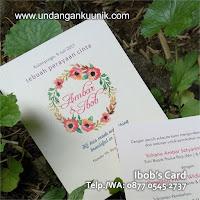 undangan pernikahan unik lucu full colour