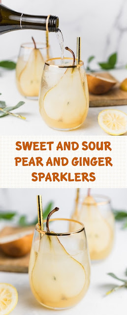Sweet And Sour Pear and Ginger Sparklers