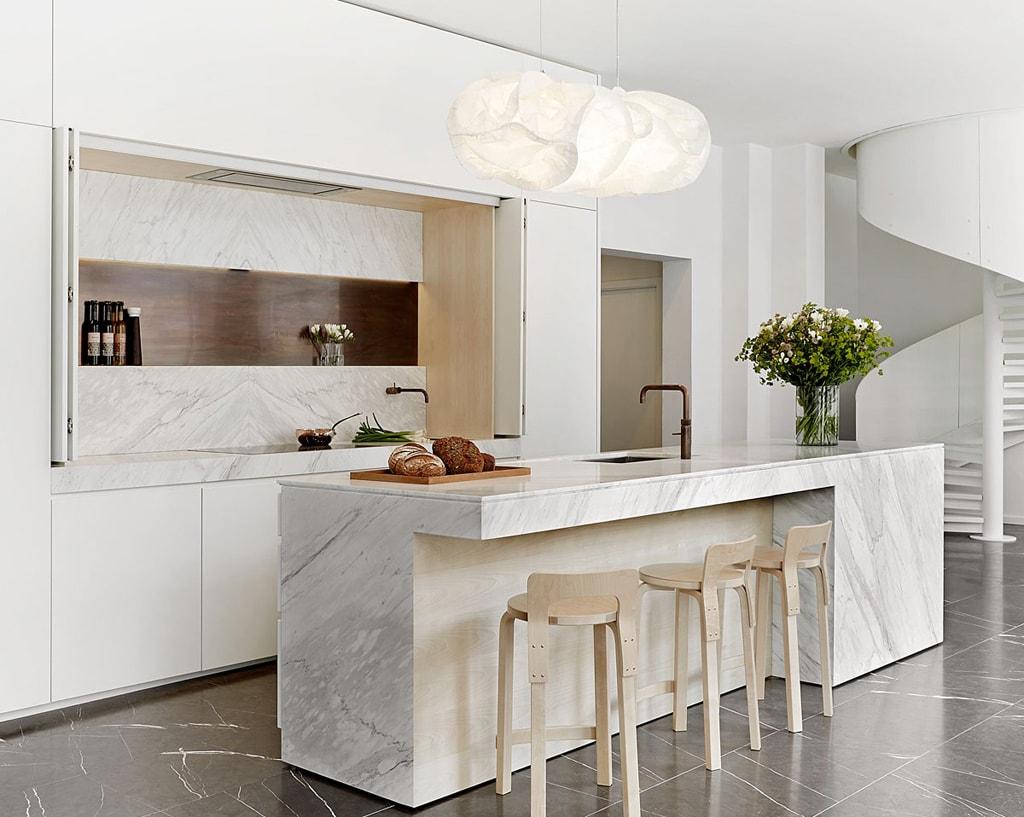 Muebles multifuncionales ideales para cocinas abiertas  Cocinas con estilo