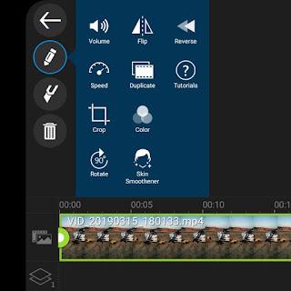 Reverse video in PowerDirector app