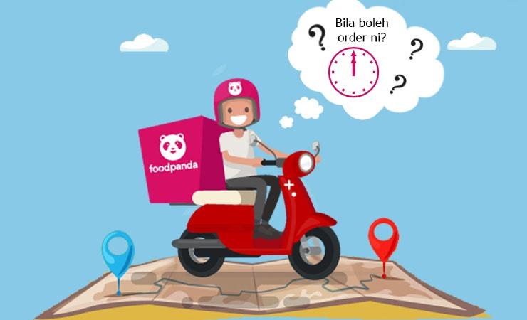 Waktu Operasi Baru dari FoodPanda Malaysia